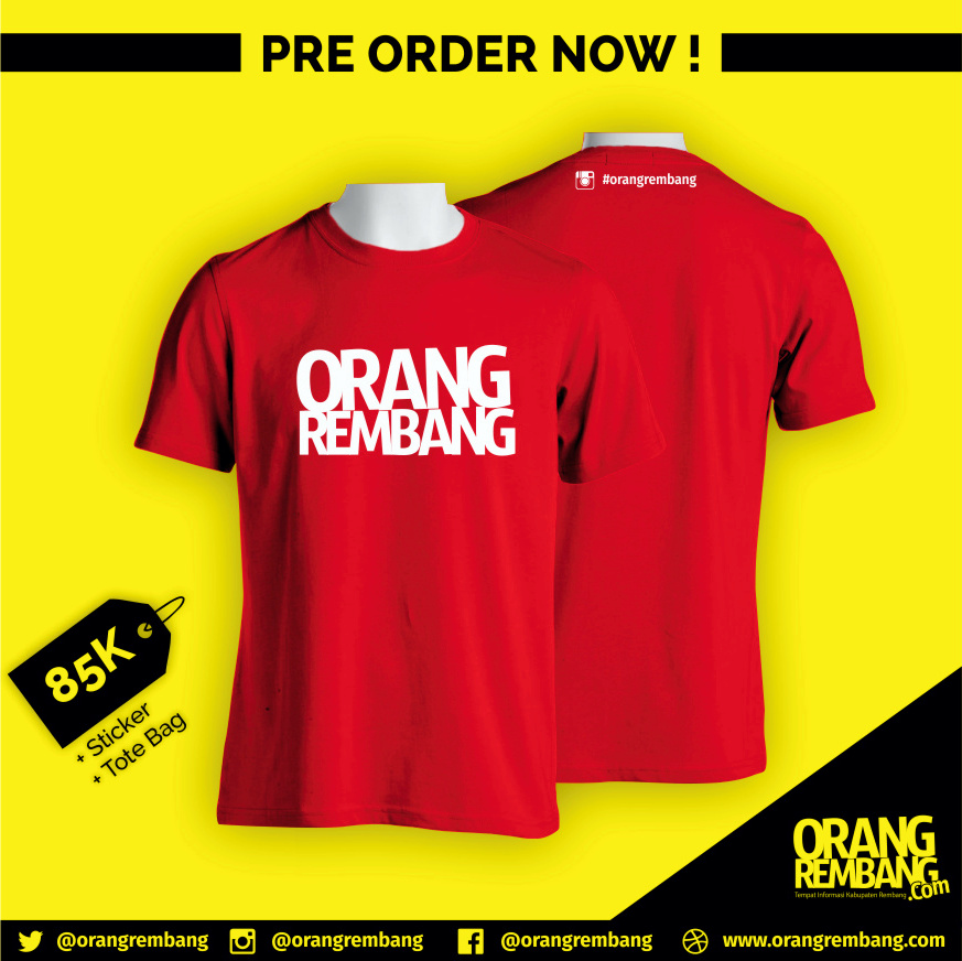Pre Order Kaos Orang Rembang #2
