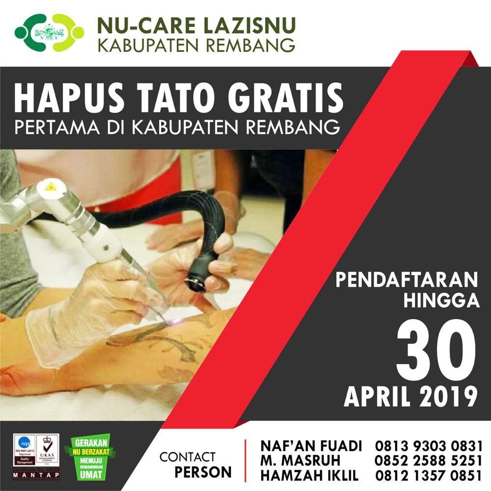 info hapus tato gratis lazisnu rembang